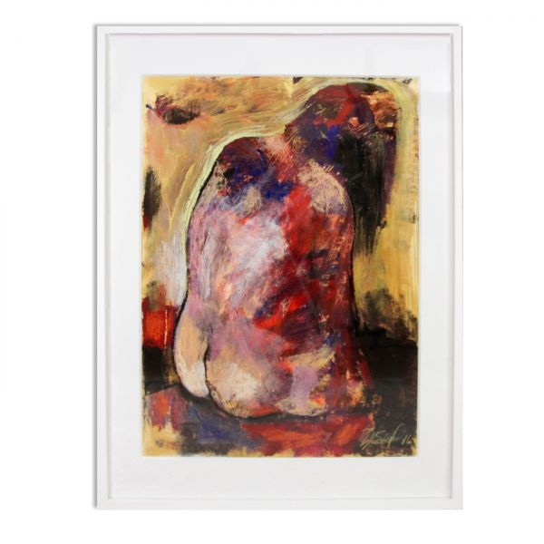"Akt Gemälde, Elena Drobychevskaja: ""Sitzende"" Aktbilder modern"