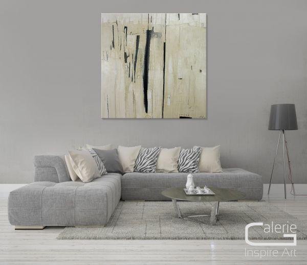 "Gemälde moderne Kunst, Conny Niehoff: ""Stadt im Nebel II"""