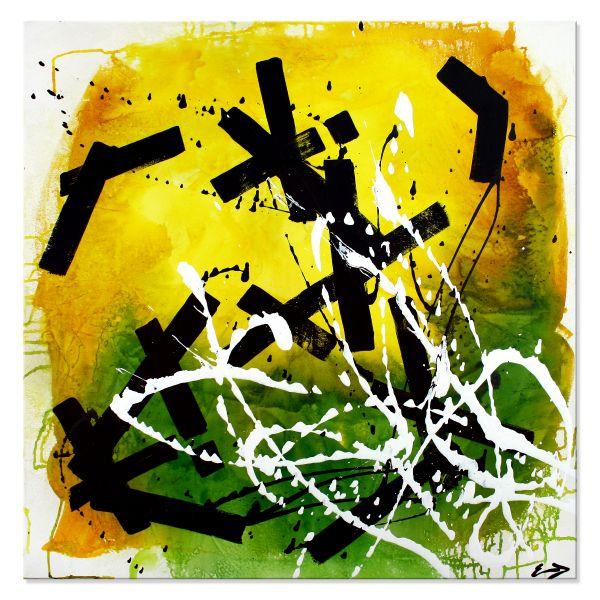 """Moderne Bilder, abstraktes Gemälde, Etienne Donnay: """"Farbspiel II"""""""