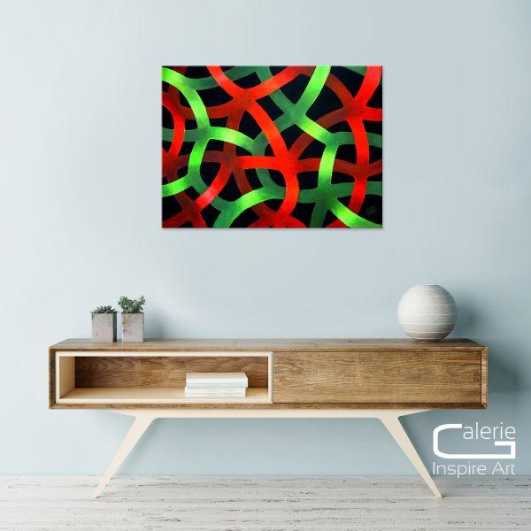 """Verwoben"" - eindrucksvolles Gemälde in Acryl - stilvolles Unikat"