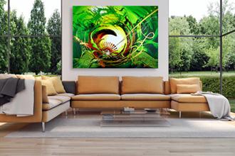 Kunst im Wohnzimmer