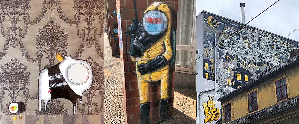 Urban Street Art von der Straße Graffiti