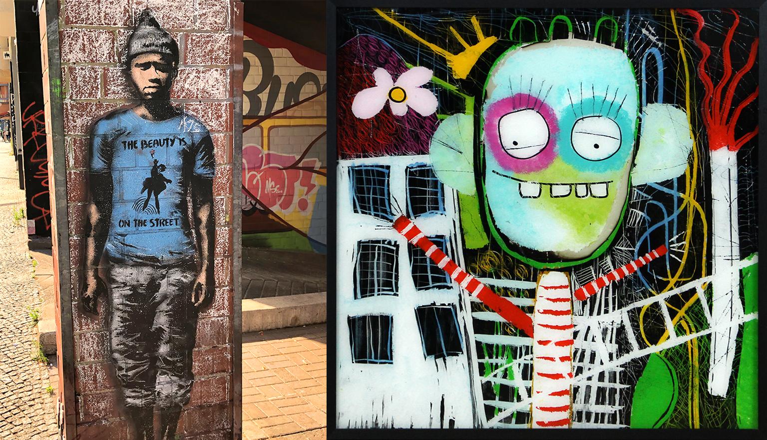 Street Art Kunst Malerei - Gemälde Streetart Kunststil